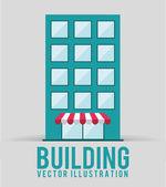 El diseño del edificio — Vector de stock