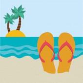 Ikona plaży — Wektor stockowy