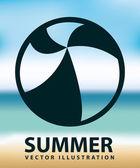 Diseño de verano — Vector de stock