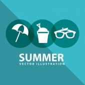 Summer design — ストックベクタ