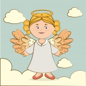 Angel design, vector illustration. — Stock Vector