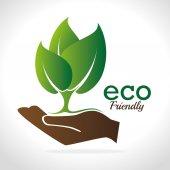 Ecology design, vector illustration. — Vector de stock