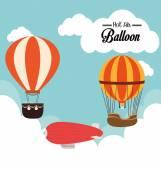 Airballoon design — Vector de stock