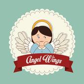 Conception de l'ange — Vecteur