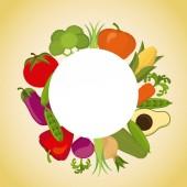 Vegan menu design — Stock Vector