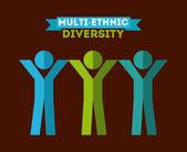 Diversity concept — Stock Vector