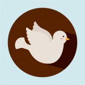 Ícone de pomba — Vetor de Stock