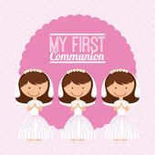 First communion — Stock Vector
