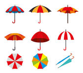 Umbrella design over white background vector illustration — Stock Vector