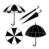 Umbrella design over white background vector illustration — Stock Vector