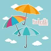 Umbrella design over cloudscape background vector illustration — Stock Vector