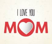 Mom design, vector illustration. — Stock Vector