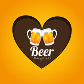Beer design, vector illustration. — Stock Vector