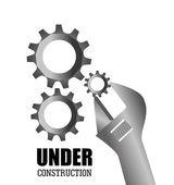 Construcción diseño, ilustración vectorial. — Vector de stock