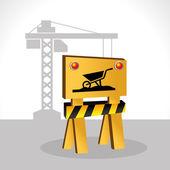 строительный дизайн, векторная иллюстрация. — Cтоковый вектор