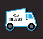 Delivery design, vector illustration. — Vector de stock