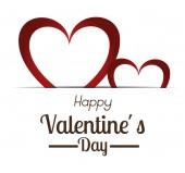 Valentines day, vector illustration. — Stock Vector