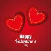 Jour de valentines, illustration vectorielle. — Vecteur