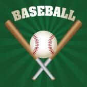 Beyzbol oyunu — Stok Vektör