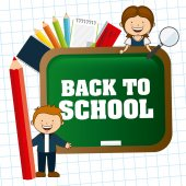 Torna a scuola design — Vettoriale Stock