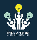 Think different — Stock Vector