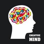 Creative mind — Stock Vector