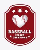 Beyzbol tasarım — Stok Vektör