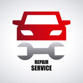 Car repair service — Stock Vector