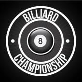 Billiard tournament — Stock Vector