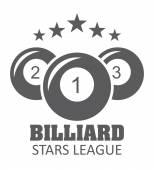 Billiard tournament design — Stock Vector