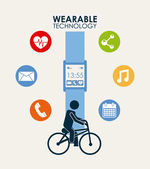 Wearable technology — Stock Vector