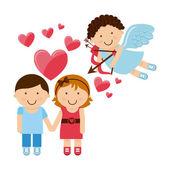 Dia de amor — Vetor de Stock