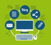 Blog template design — Stock Vector