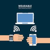 Wearable technology — Stock Vector