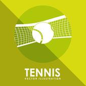 Tennis game design — Stock Vector