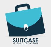 Suitcase icon — Stock Vector