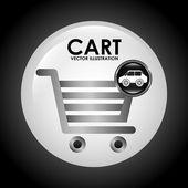 Nákupní vozík — Stock vektor