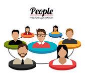 Gente diseño, ilustración vectorial. — Vector de stock