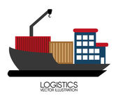 Delivery design, vector illustration. — Stok Vektör