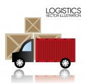 Delivery design, vector illustration. — Stock vektor