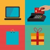Shopping design,vector illustration. — Stock Vector