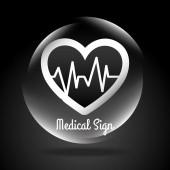 Medical design, vector illustration. — Stock vektor