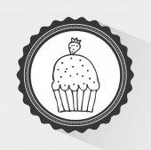 Bakery icon design — Stock Vector