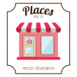 Places icon design — Stock Vector #64019469