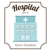 Hospital building design — Stock Vector