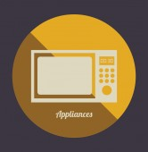 Appliance home design — Stock Vector
