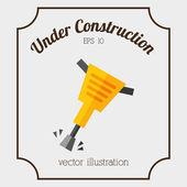 Bajo el diseño de la construcción — Vector de stock