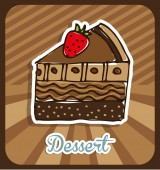 Delicious dessert  — Stock Vector