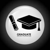 Graduate icon — Stock Vector