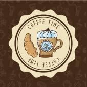 Восхитительный кофе — Cтоковый вектор